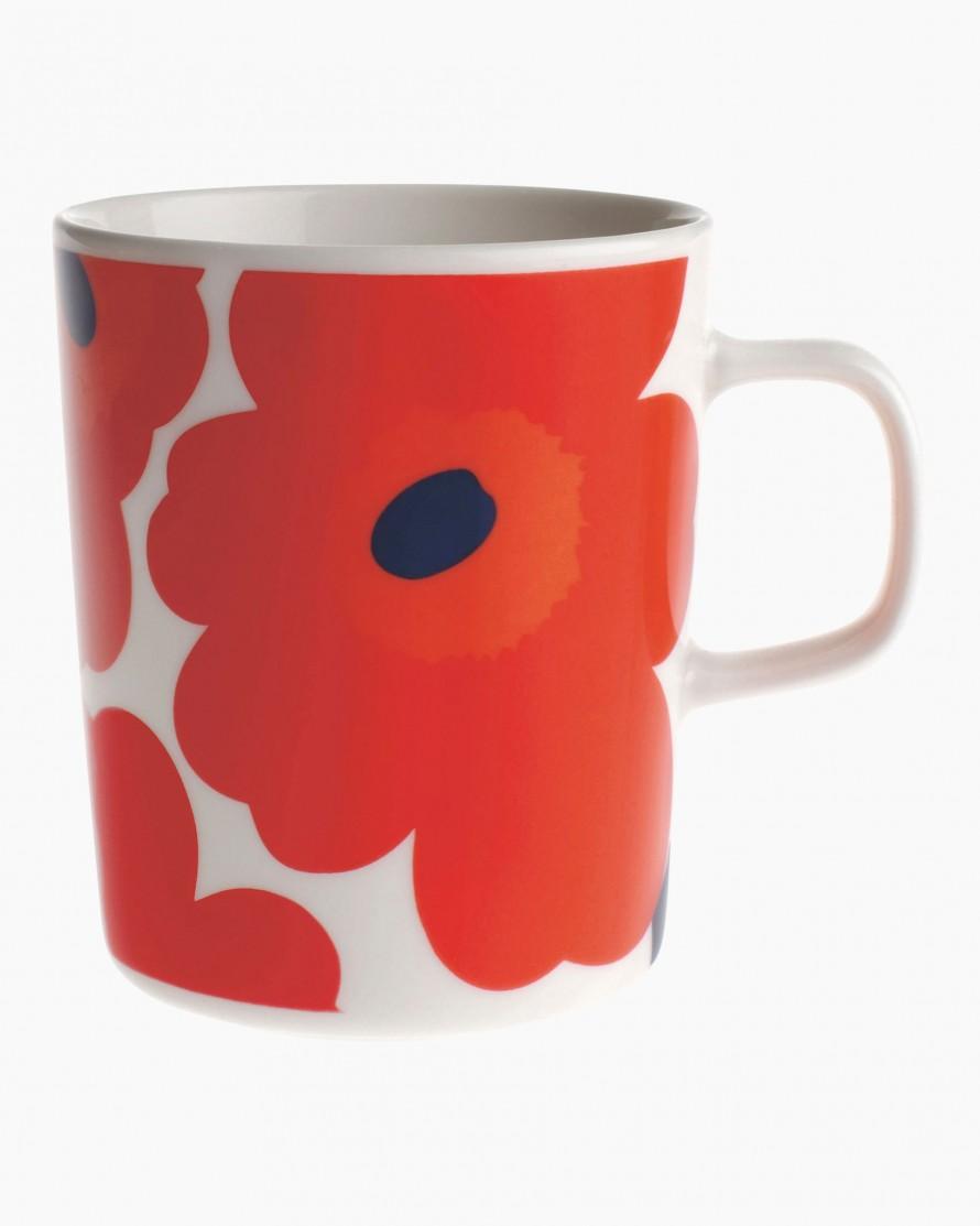Oiva/Unikko mug 2,5dl white/red/blue