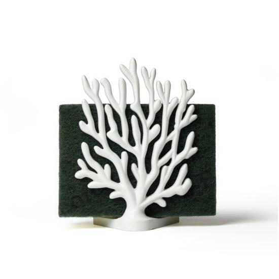 Coral sponge holder white