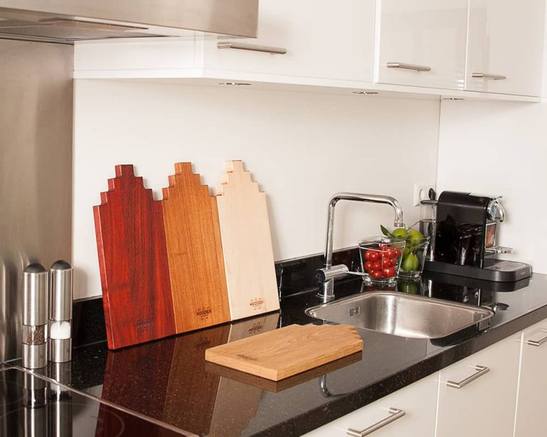 Serving board canal house large padouk