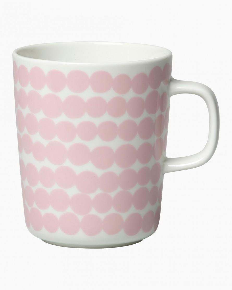 Siirtolapuutarha mug 2,5dl white/pink