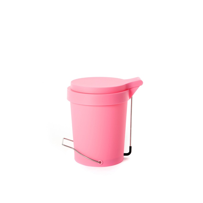 Trash can Tip 7 L. pink