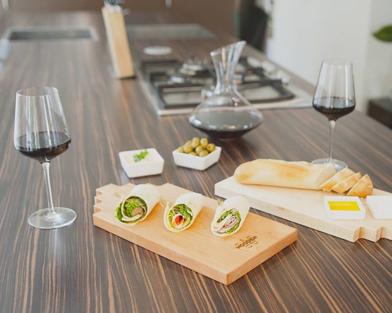Serving board canal house small cherry