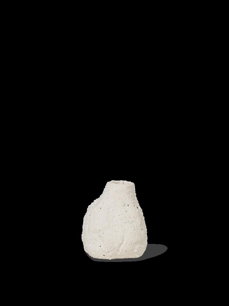 Vulca mini vase off white stone