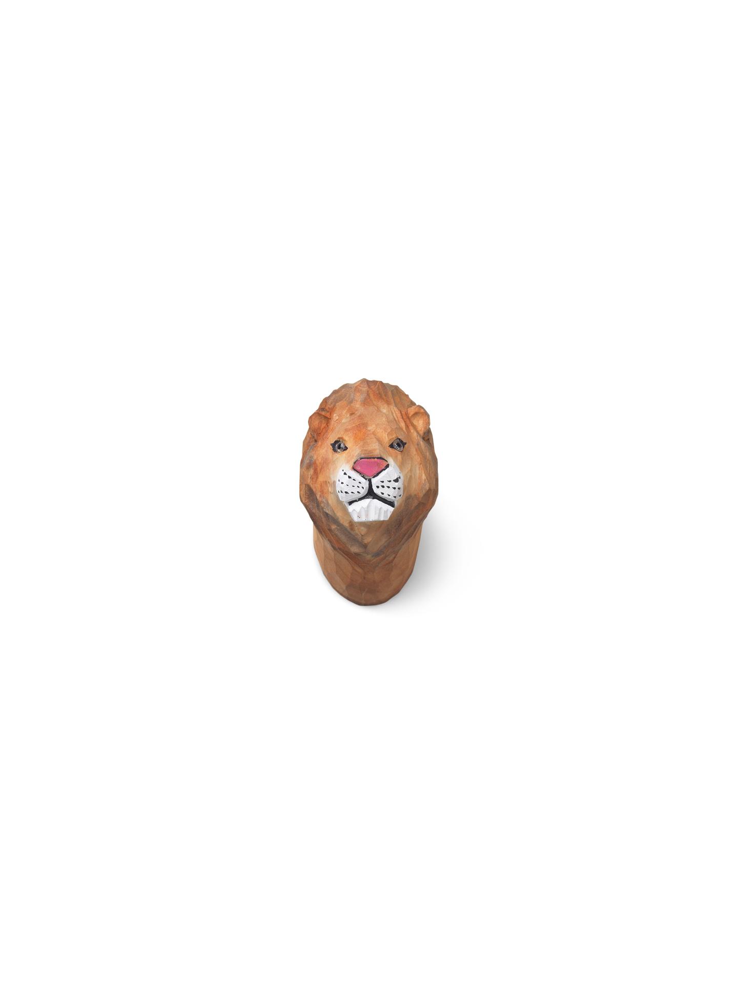Animal hand-carved hook lion
