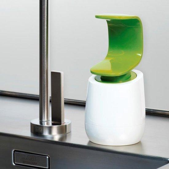 Aanrecht zeepdispenser wit groen