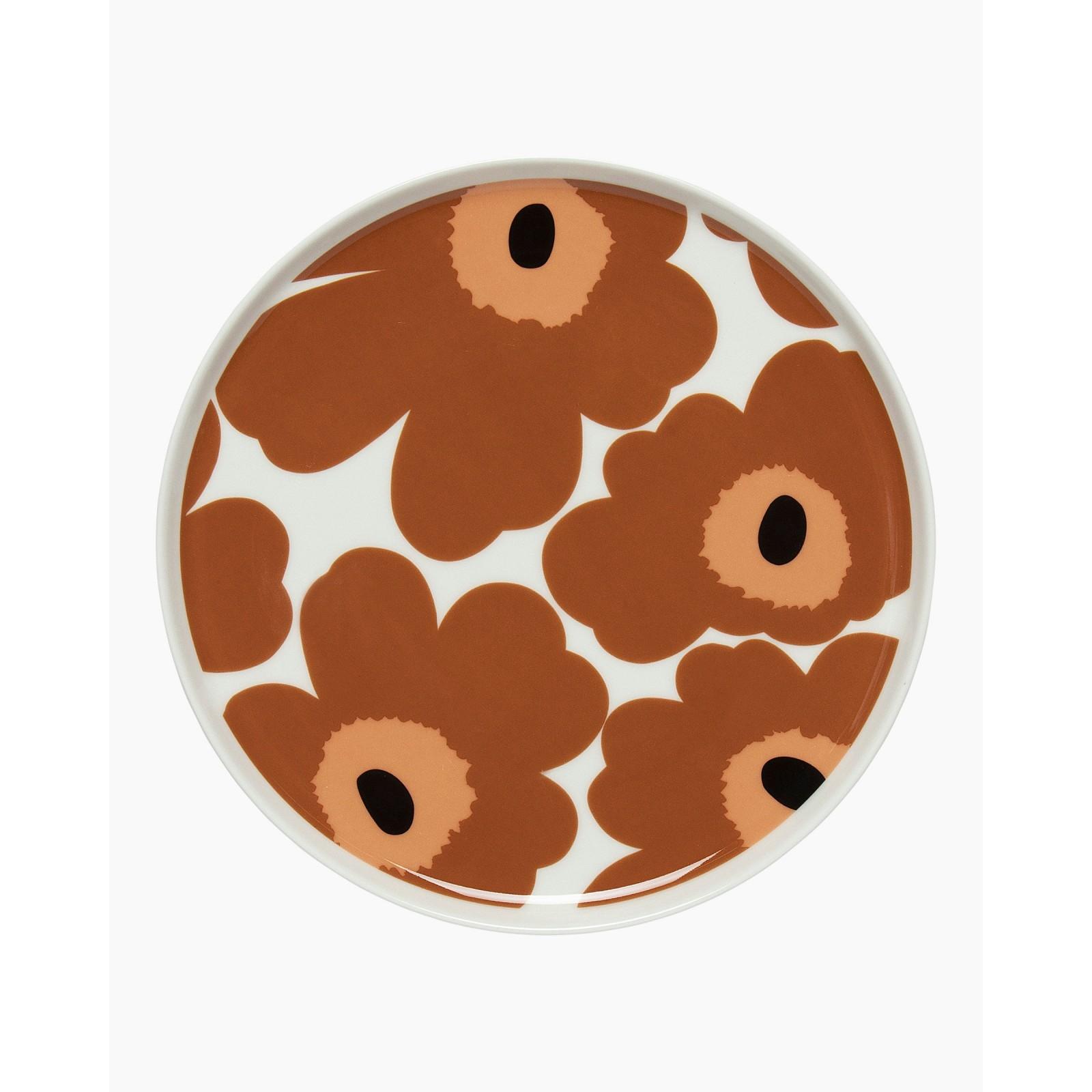 Marimekko Unikko Plate 20cm Brown Orange