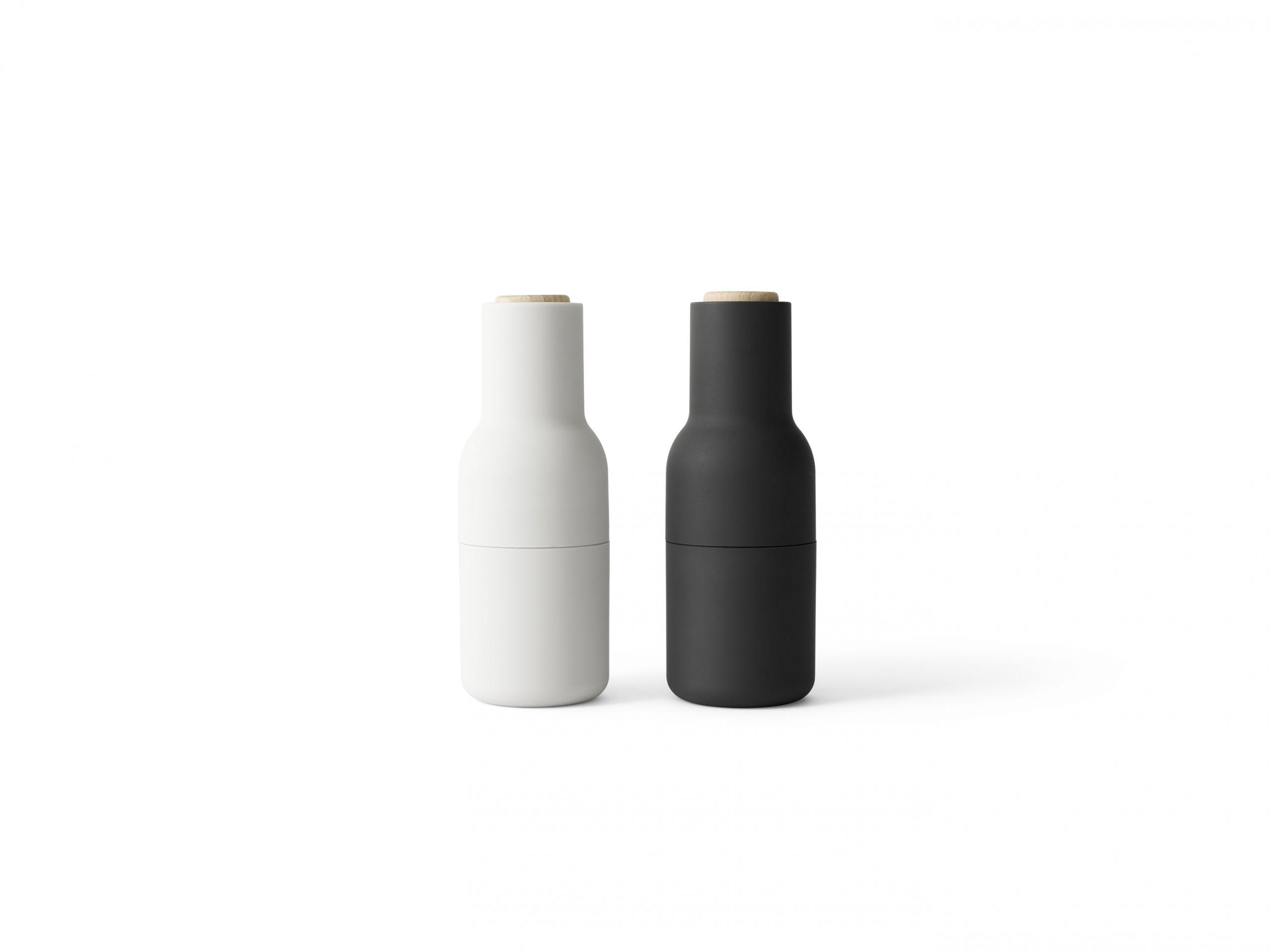Menu Bottle Grinder Beech Lid Ash/Carbon 2-pack