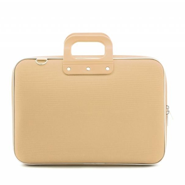 Laptop case 15,4 inch nylon taupe