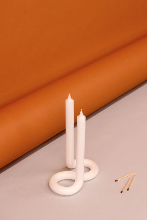 Lex Pott Twist Candle Orange