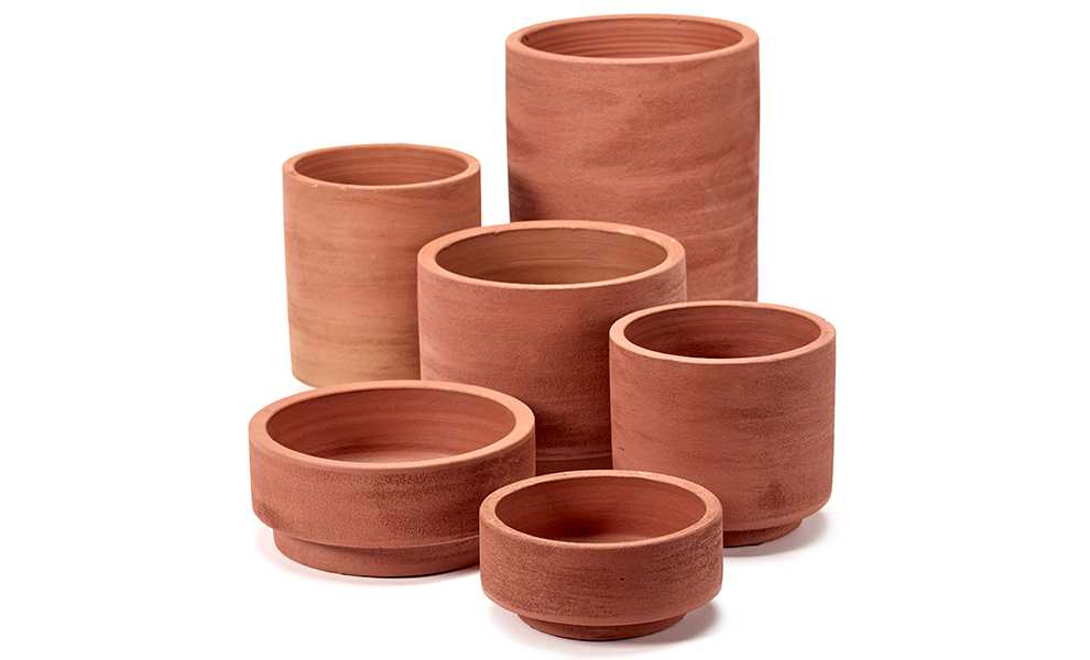 Pot cylinder rood groot