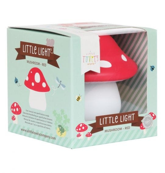 Mini mushroom light red