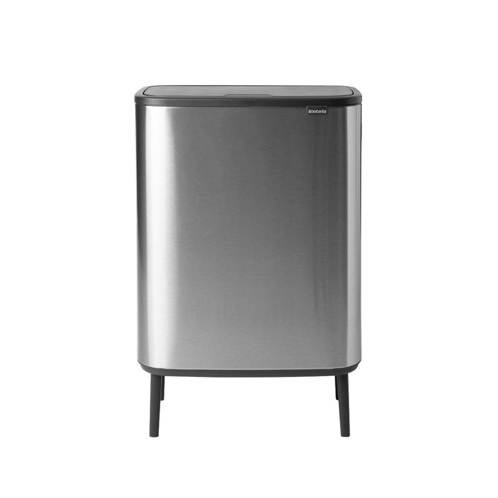 Bo touch bin high 60 liter matt steel fingerprint proof