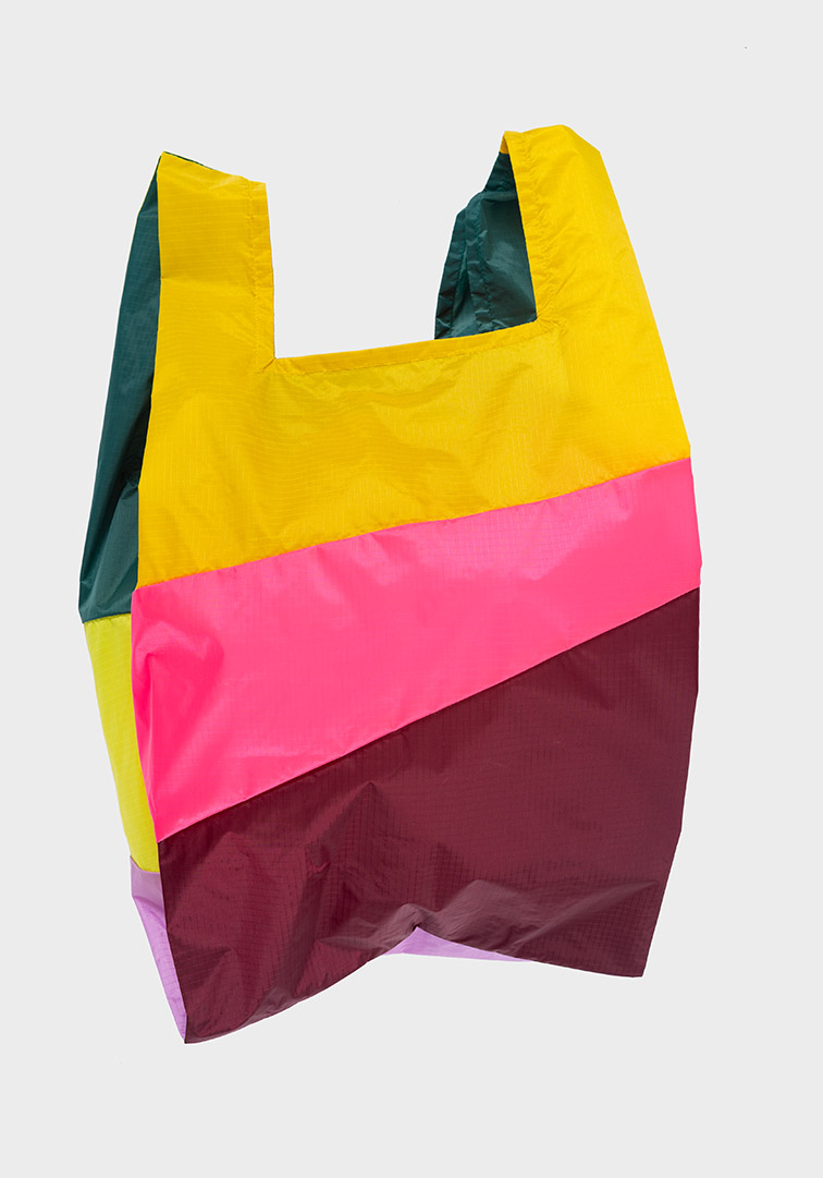 Shoppingbag Heilo & Fluo Pink & Burgundy L