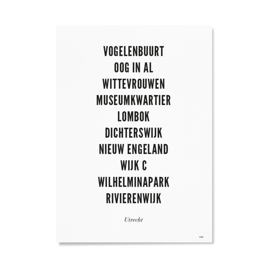 Utrecht centrum typo ansichtkaart