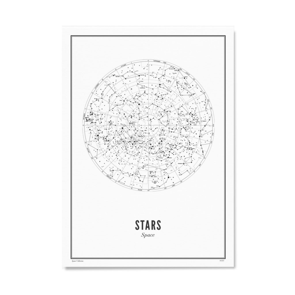 Stars white A4