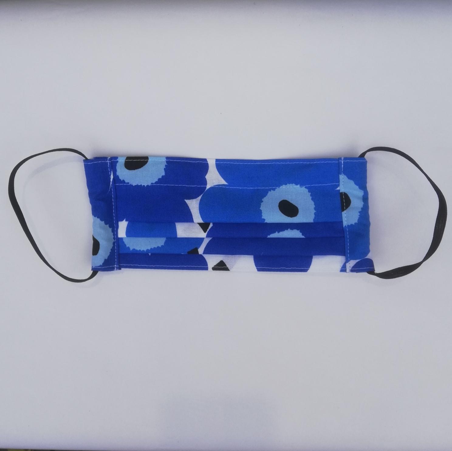 KECK & LISA mondkapje Unikko blue/ white