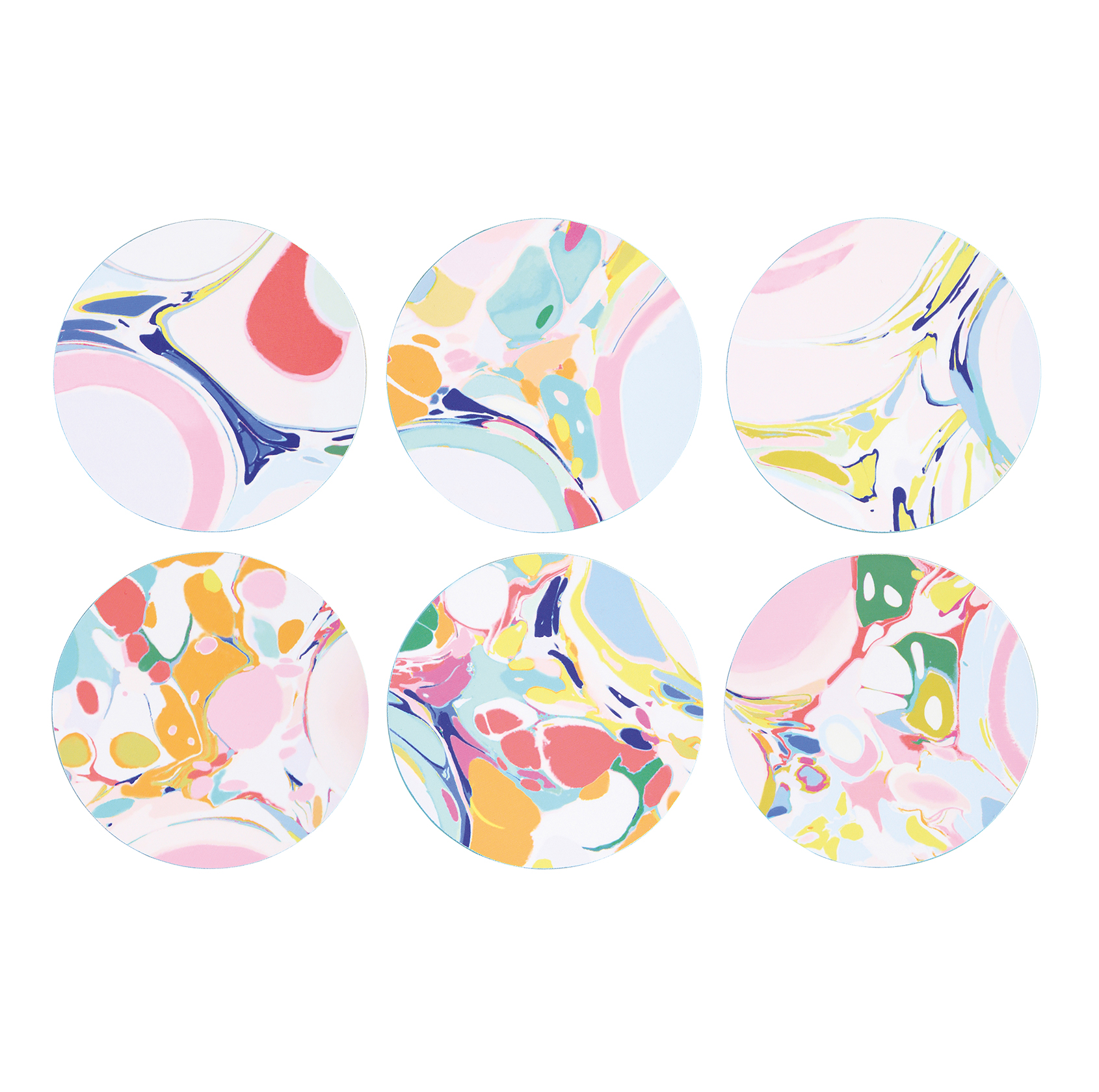 Set of 6 lillian coasters