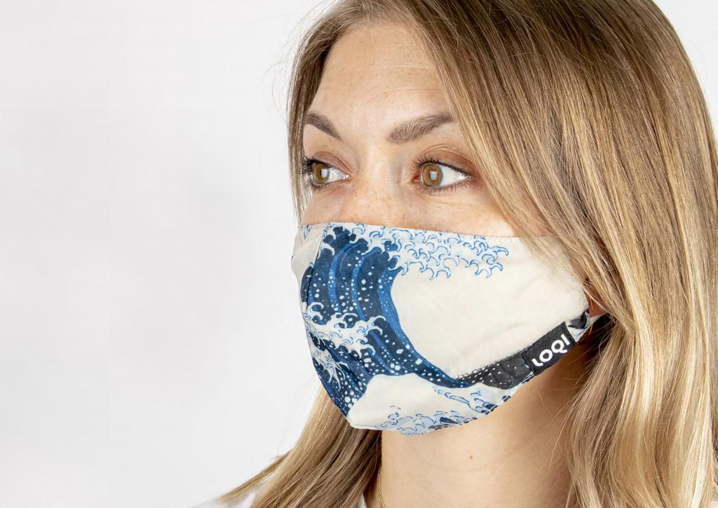 Mondkapje Hokusai – The Great Wave