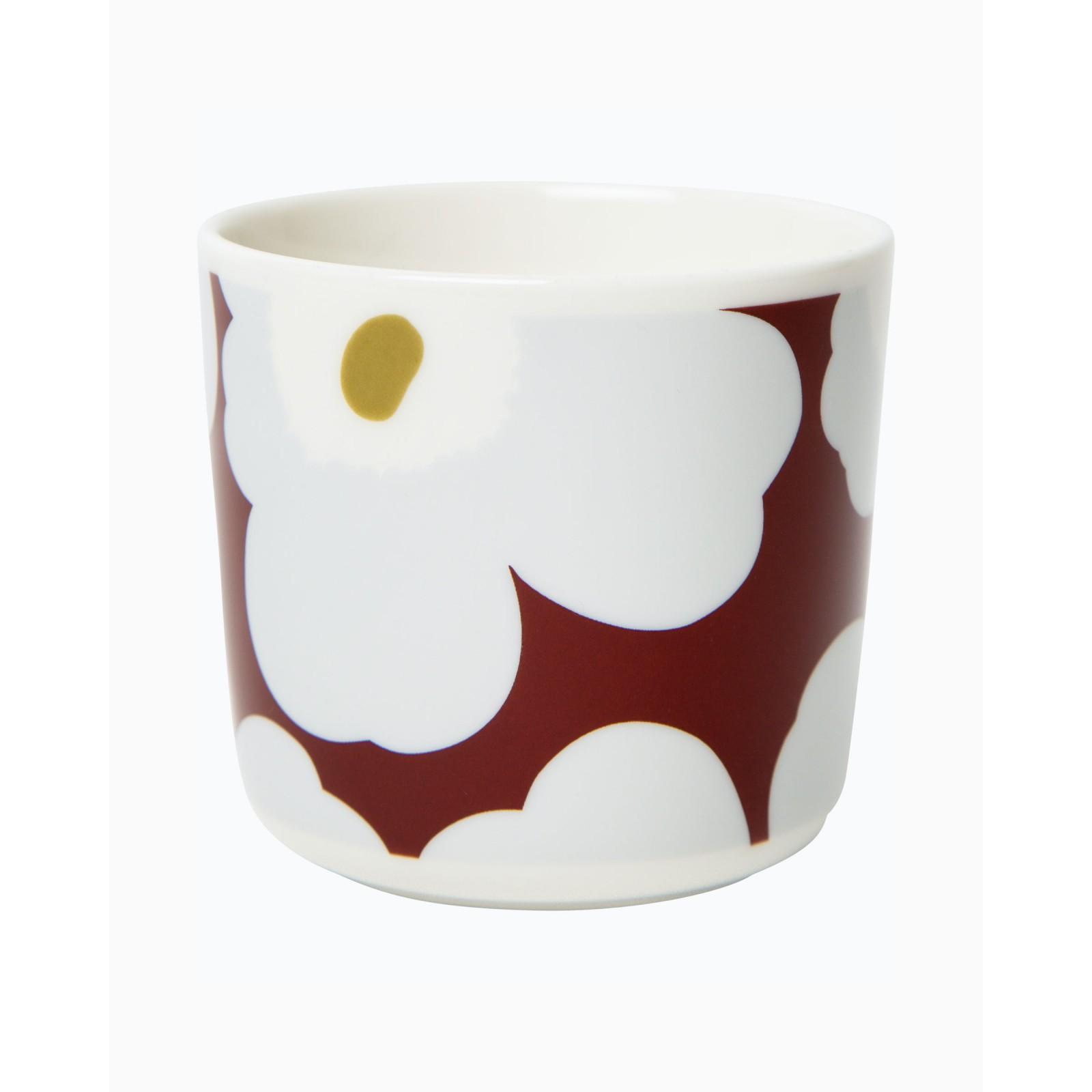 Marimekko Unikko Cup wo Handle Red/Yellow Dot