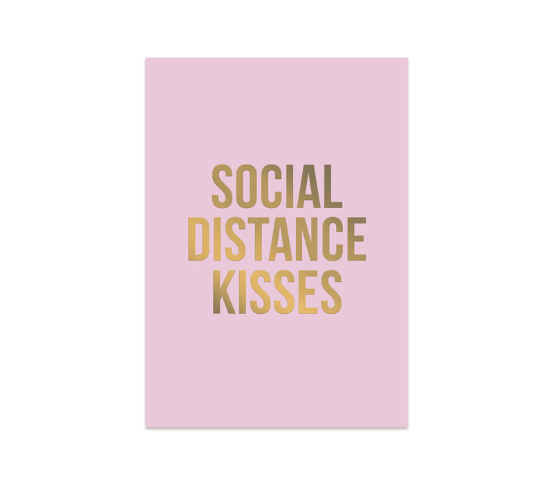 Kaart Social Distance Kisses