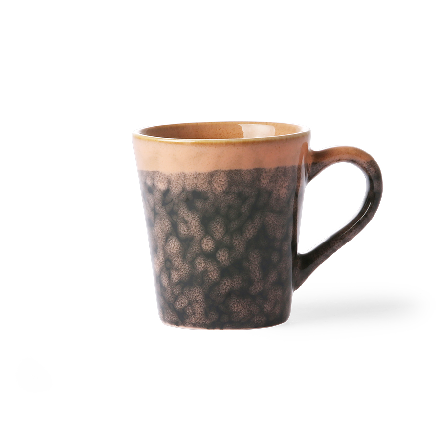 Ceramic 70's bowl medium lava