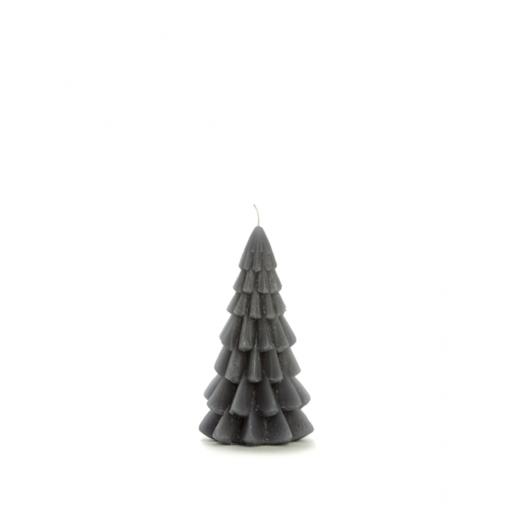 Kerstboom kaars small antraciet grijs