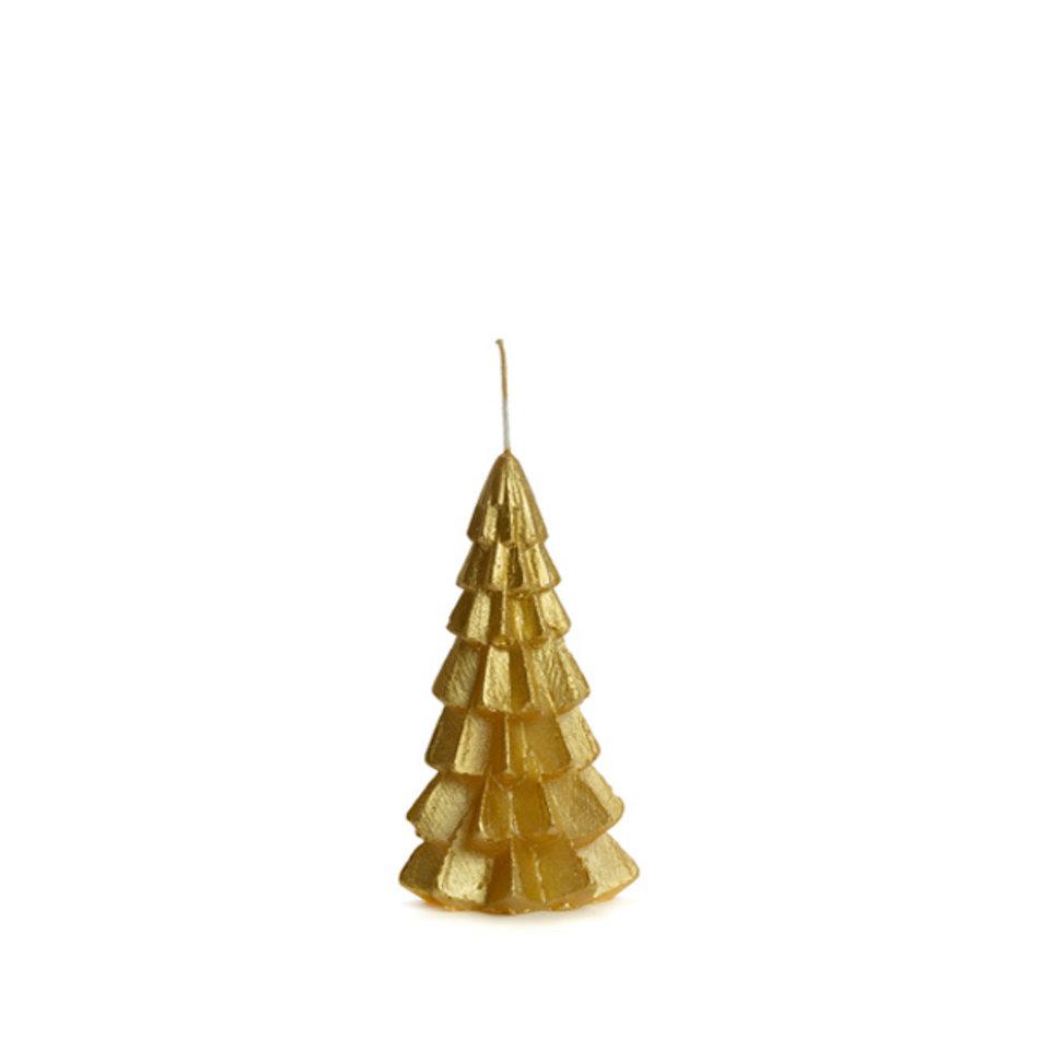 Kerstboom kaars small goud