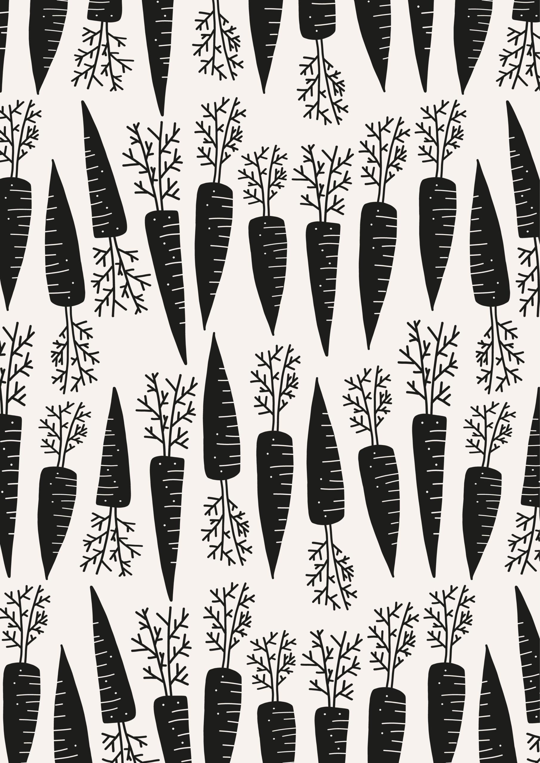 Sinterklaaspapier Waanzinnige Wortels zwart