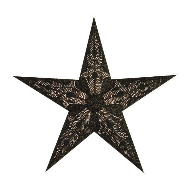 Kerstster lamp damaskus black