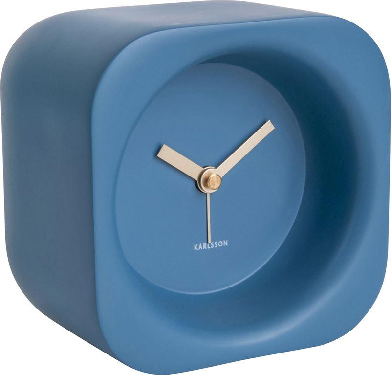 Alarm clock Chunky polyresin blue